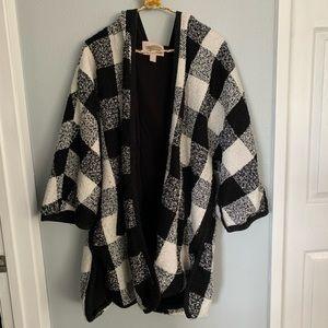 Checkered Kimono Coat